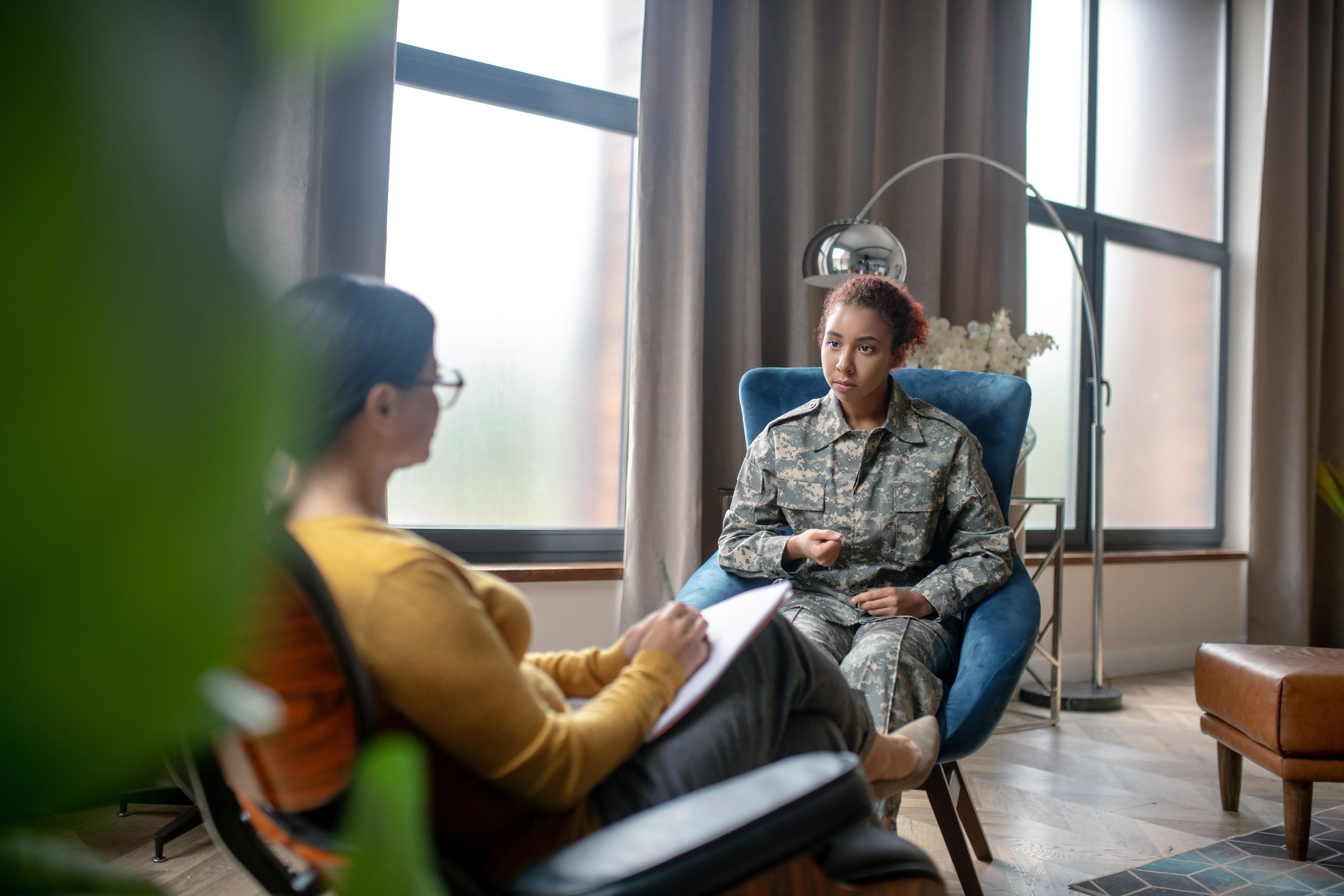 veteran receiving counselling