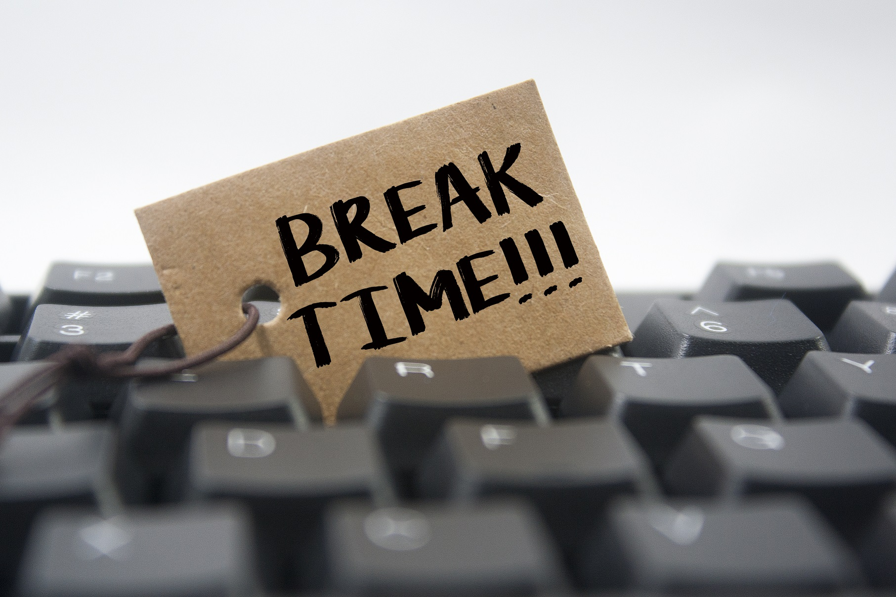 Break time sign on keyboard
