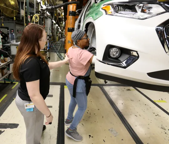 work-fit inside the gm plant