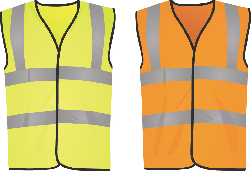 Safety yellow and orange vests