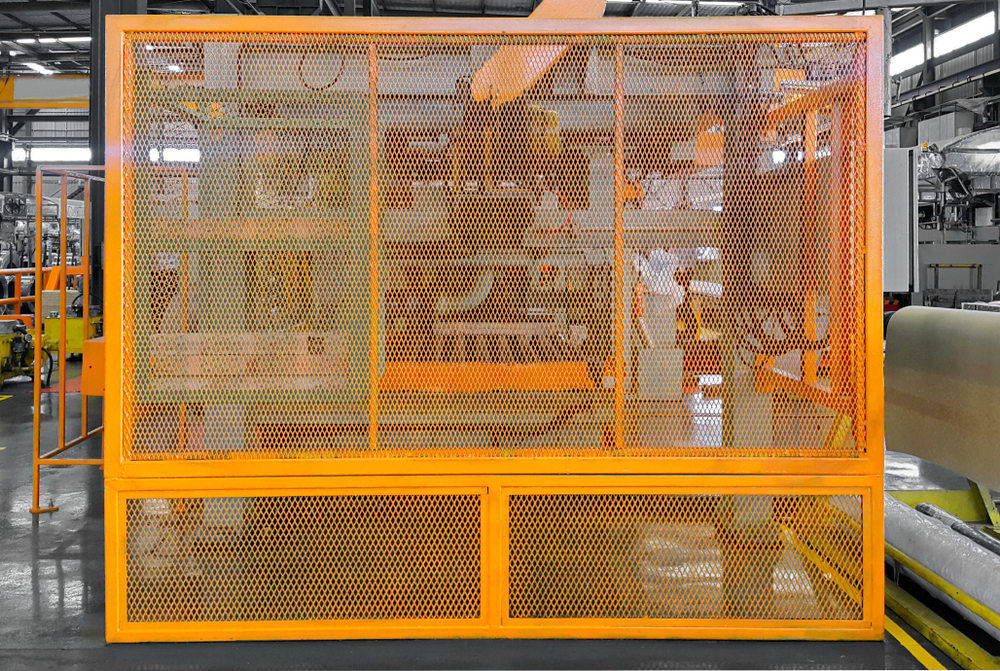 machine in factory made from steel