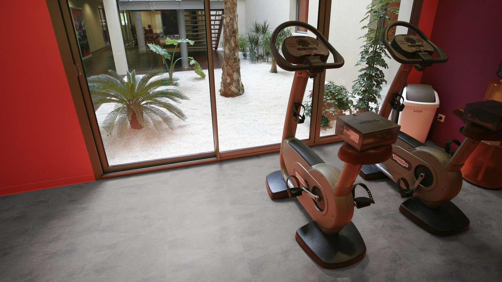 PVC Vloeren voor fitnesscentra. PVC Projectvloeren