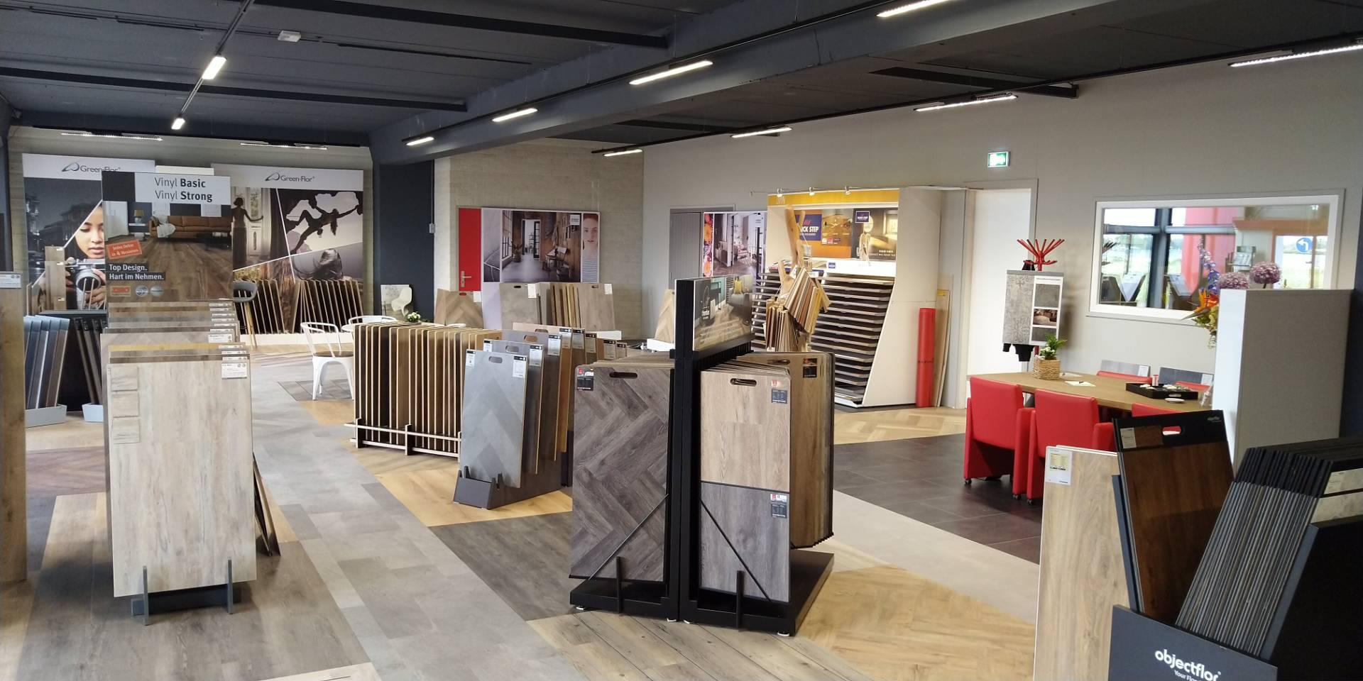 Showroom van de PVC Vloerenconcurrent op de Corantijn 71 in Zwaag