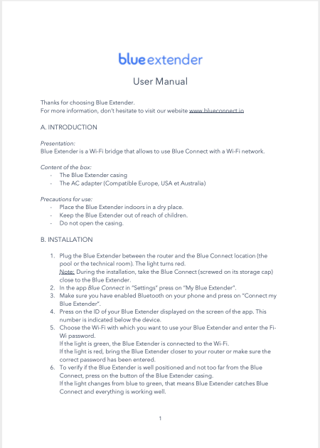Blue Extender Manual Download