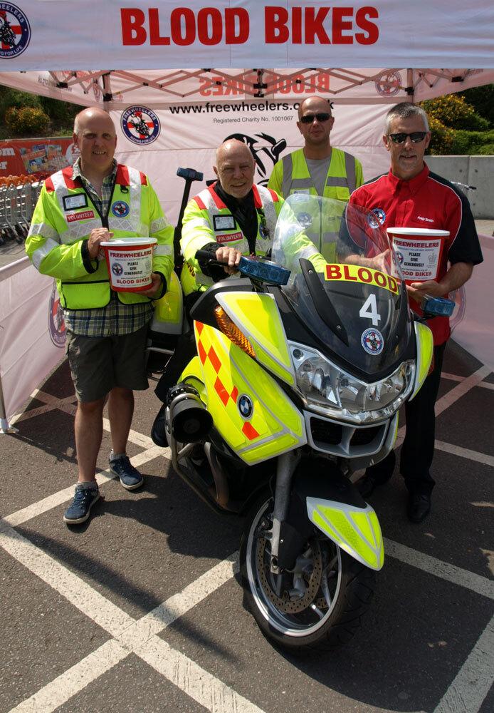WaBAM Support Freewheelers Blood Bikes