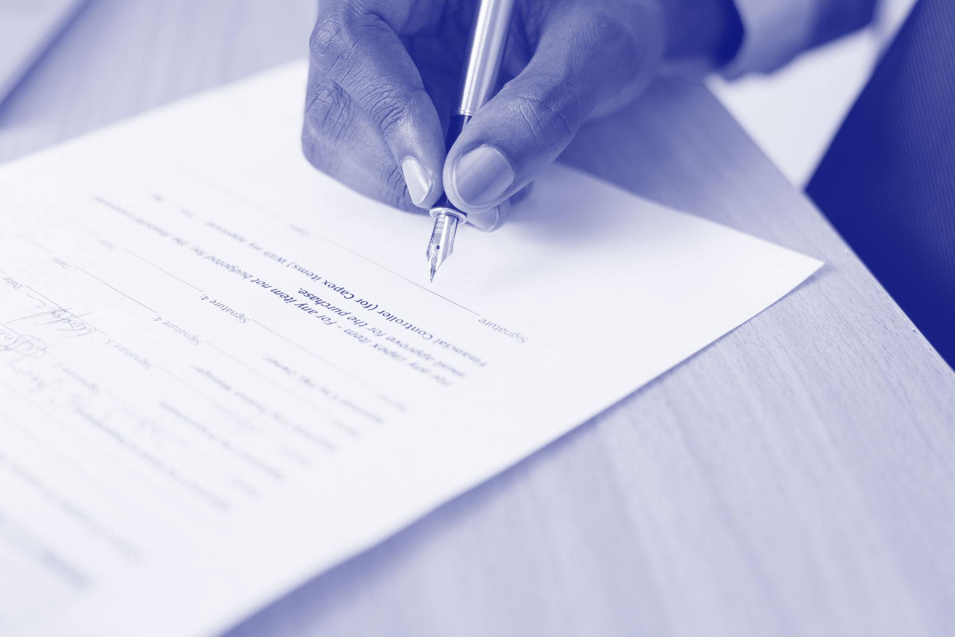 Echtheid handtekening