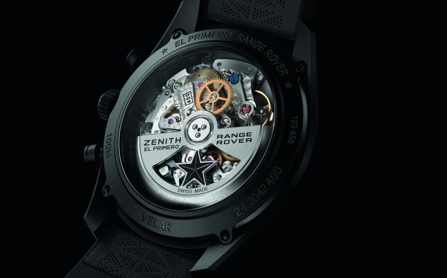Zenith El Primero chronograph movement caseback
