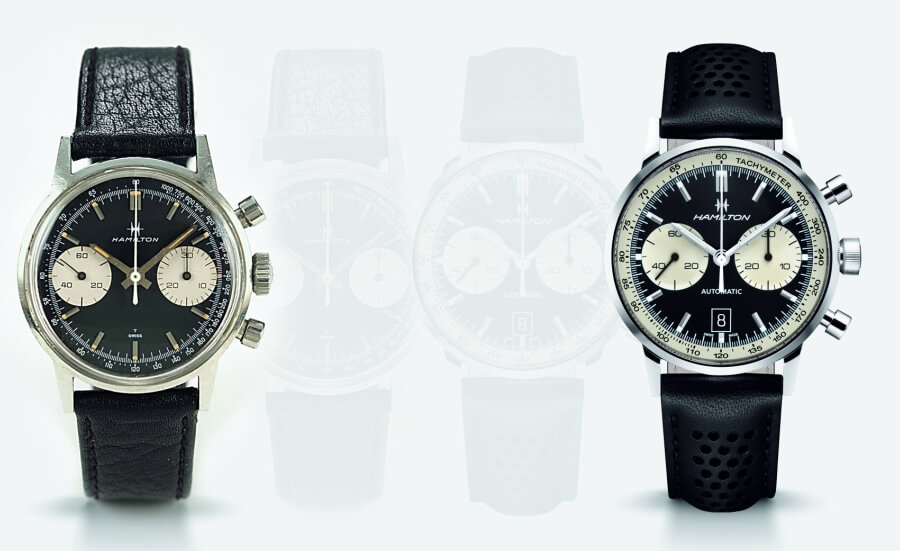 vintage hamilton chronograph vs new model