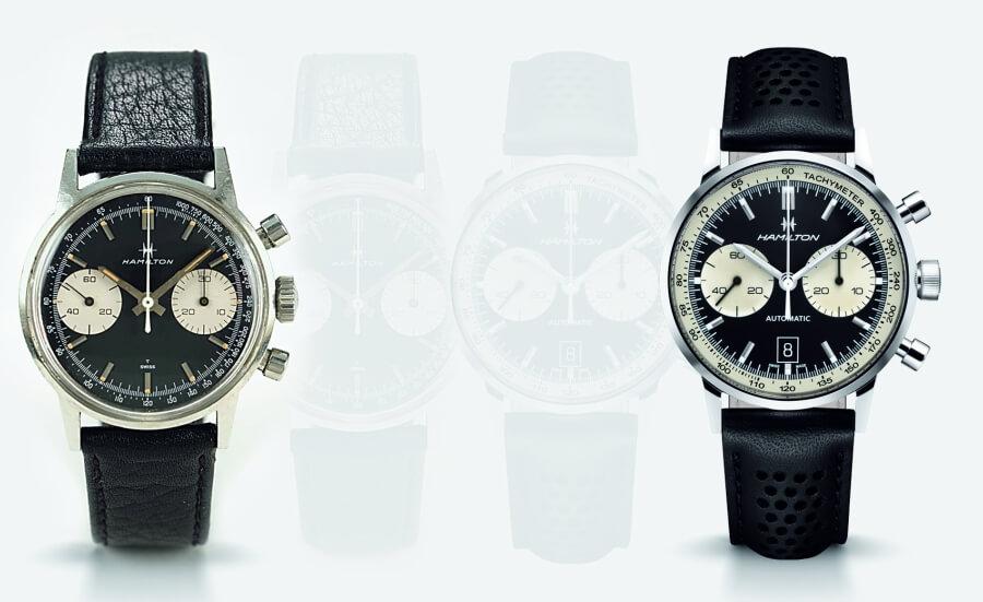 vintage hamilton chronograph vs new model