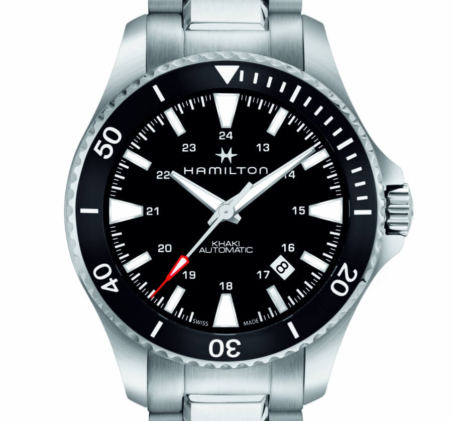 Hamilton Khaki Navy Scuba with black dial
