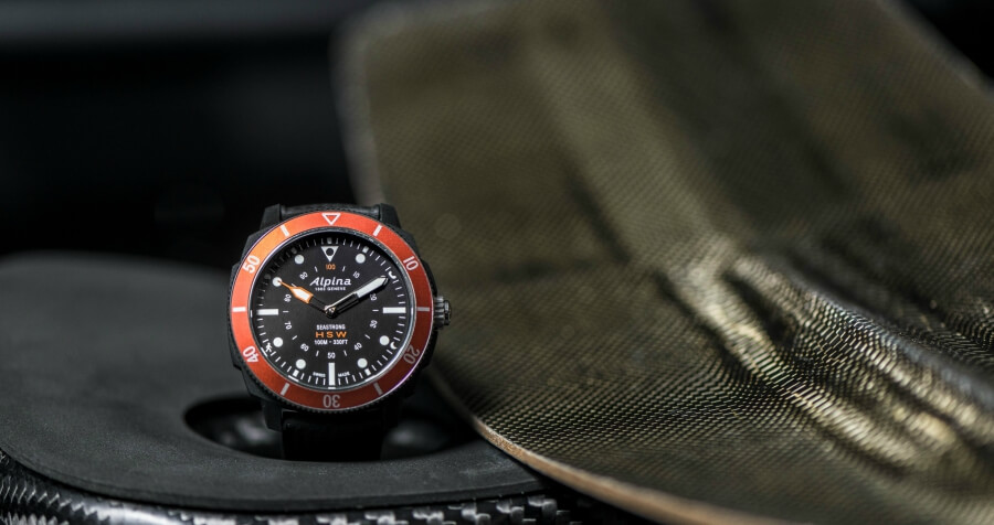 Alpina Seastrong Horological Smartwatch Orange Bezel