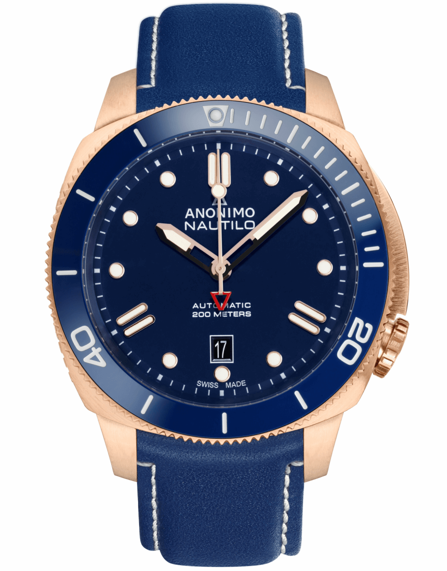 Anonimo Nautilo full Bronze & Blue