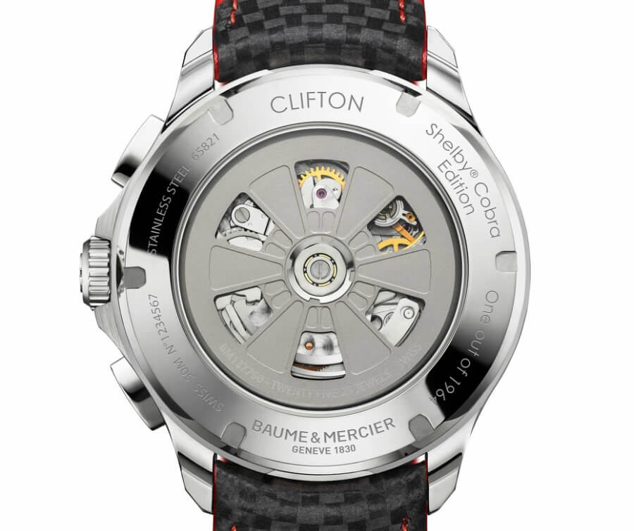 Baume & Mercier Clifton Club Shelby Cobra Case back