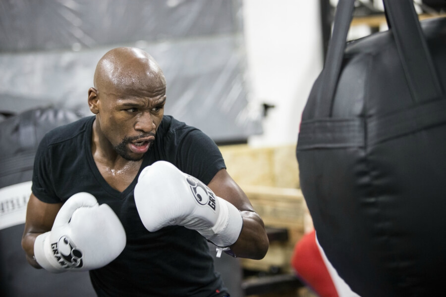 training session with floyd mayweather jr