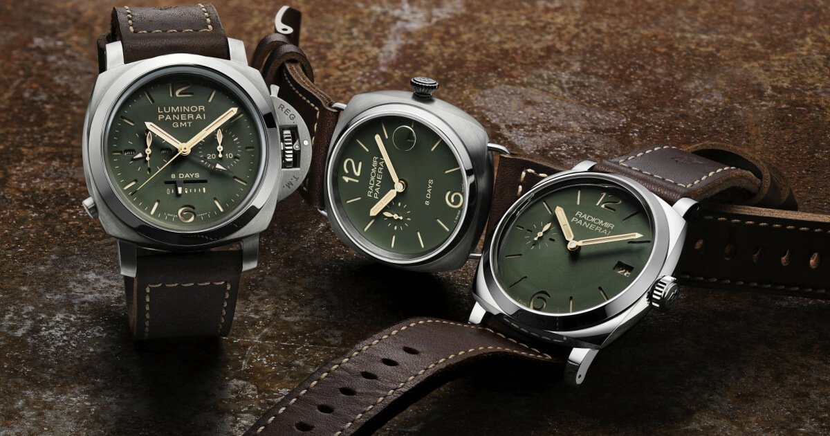 Officine Panerai Green Dial Collection