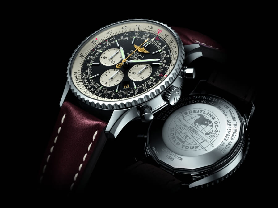 "500 Navitimer ""Breitling DC-3 World Tour"" chronographs"