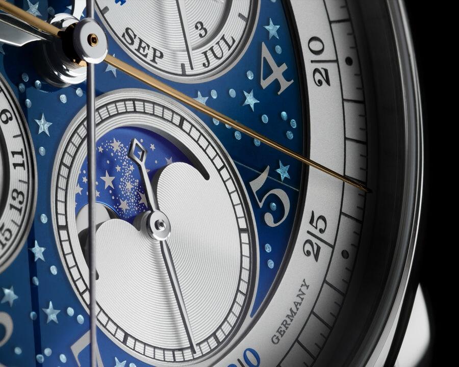 A. Lange & Sonne 1815 Rattrapante Perpetual Calendar Handwerkskunst Dial