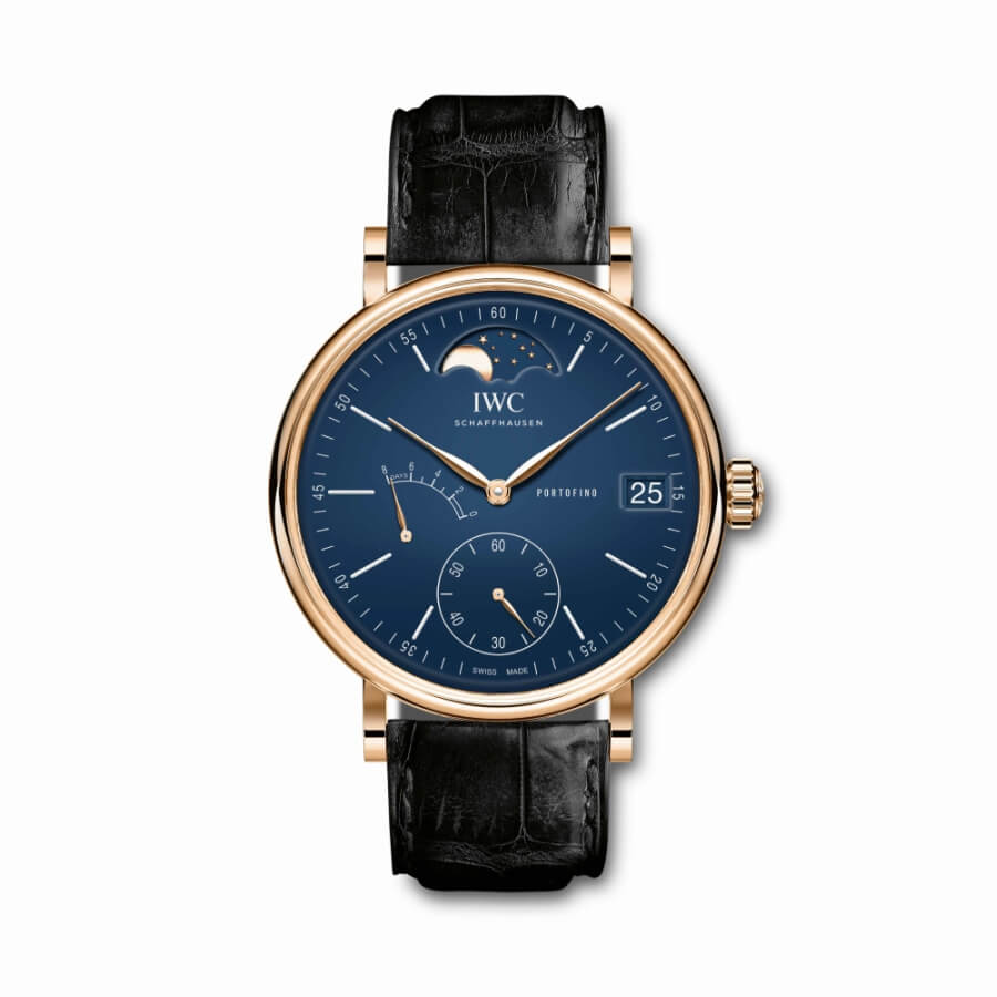 iwc portofino gold moon phase
