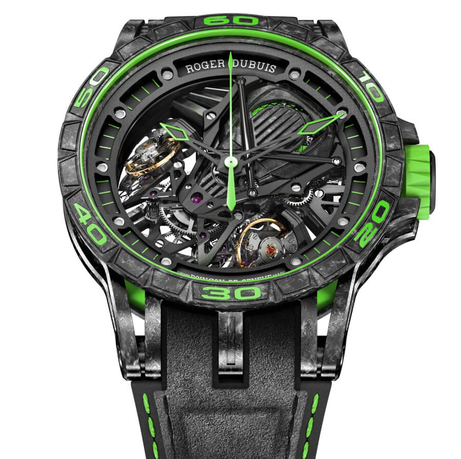 Roger Dubuis Excalibur Aventador S Green Watch Review