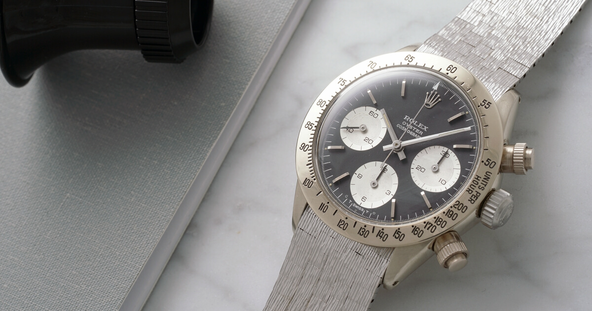 The Only Known Vintage White Gold Rolex Daytona Offered By Phillips in Association with Bacs & Russo
