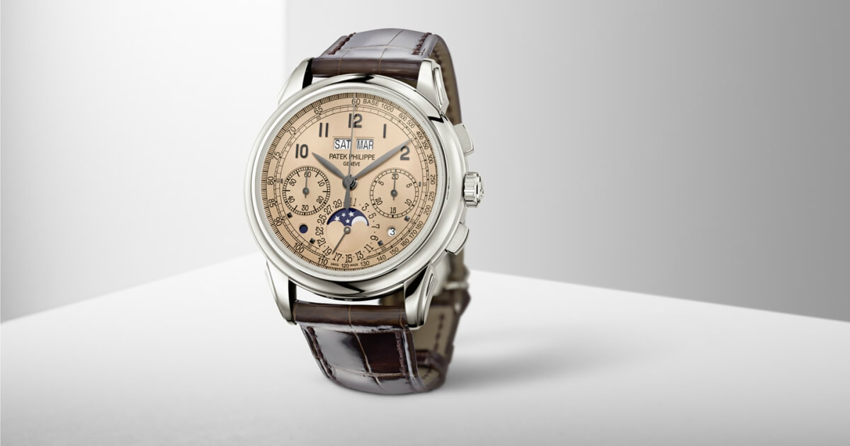 Patek Philippe 5270P-001 Chronograph Perpetual Calendar With A Very Nice Golden Opaline (Salmon) Dial