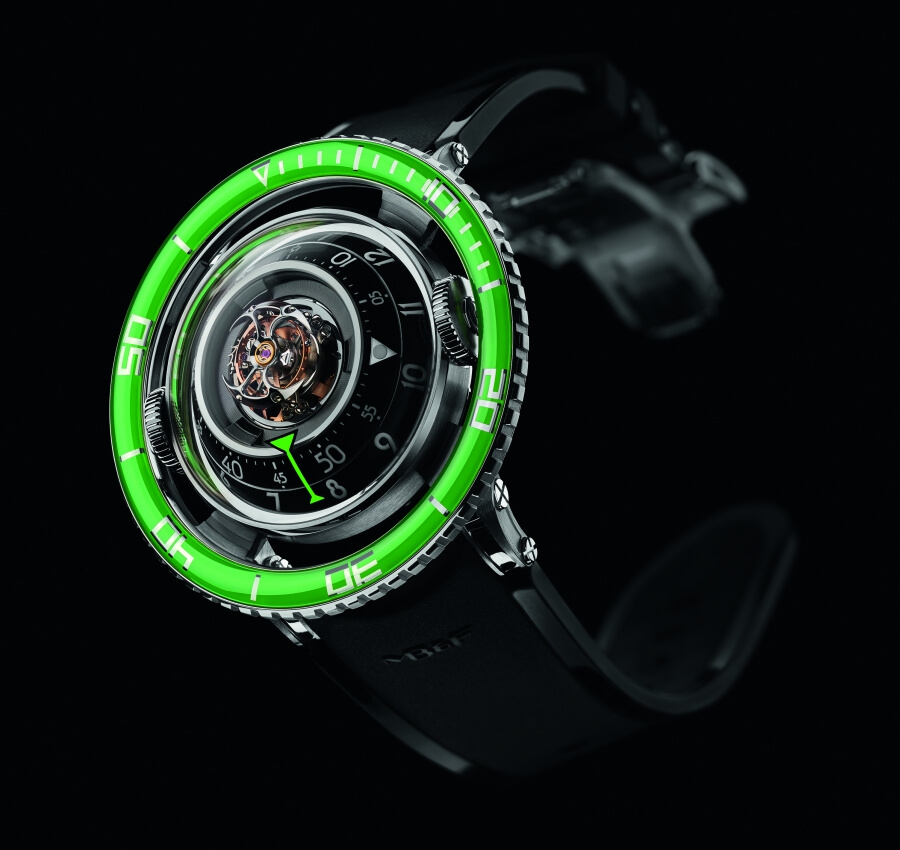 MB&F Horological Machine No.7 Aquapod Titanium Green