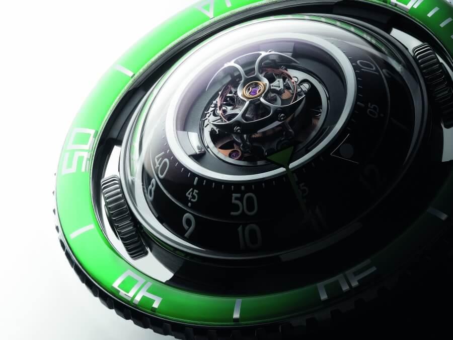 MB&F Aquapod Titanium Green