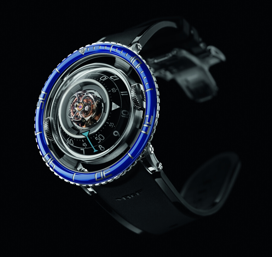 MB&F Horological Machine No.7 Aquapod Titanium Blue