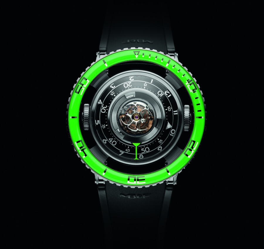 MB&F Horological Machine No.7 Aquapod Titanium Green Watch Review