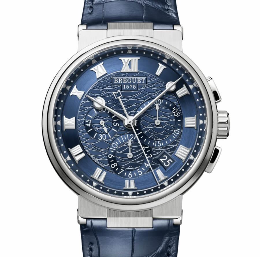 Breguet Marine Chronograph 5527 Blue Dial