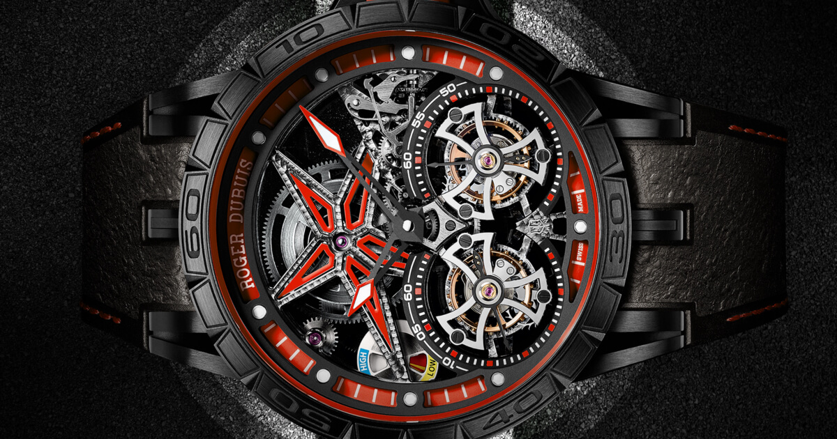 Roger Dubuis Excalibur Spider Pirelli Flying Double Tourbillon