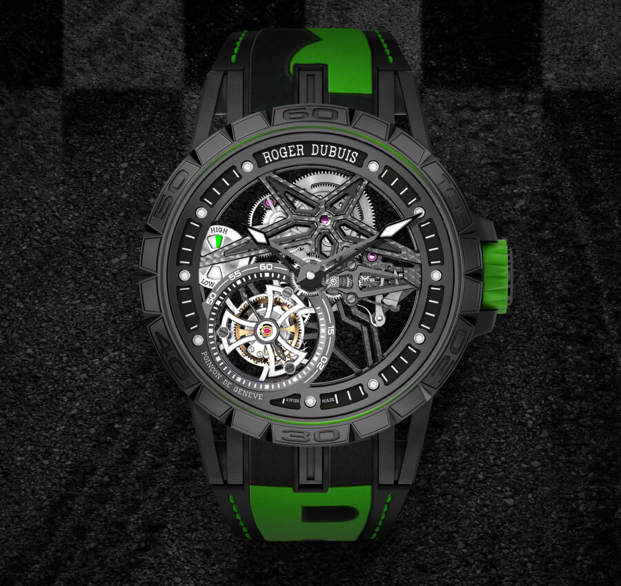 The New Roger Dubuis Excalibur Spider Pirelli Single Flying Tourbillon