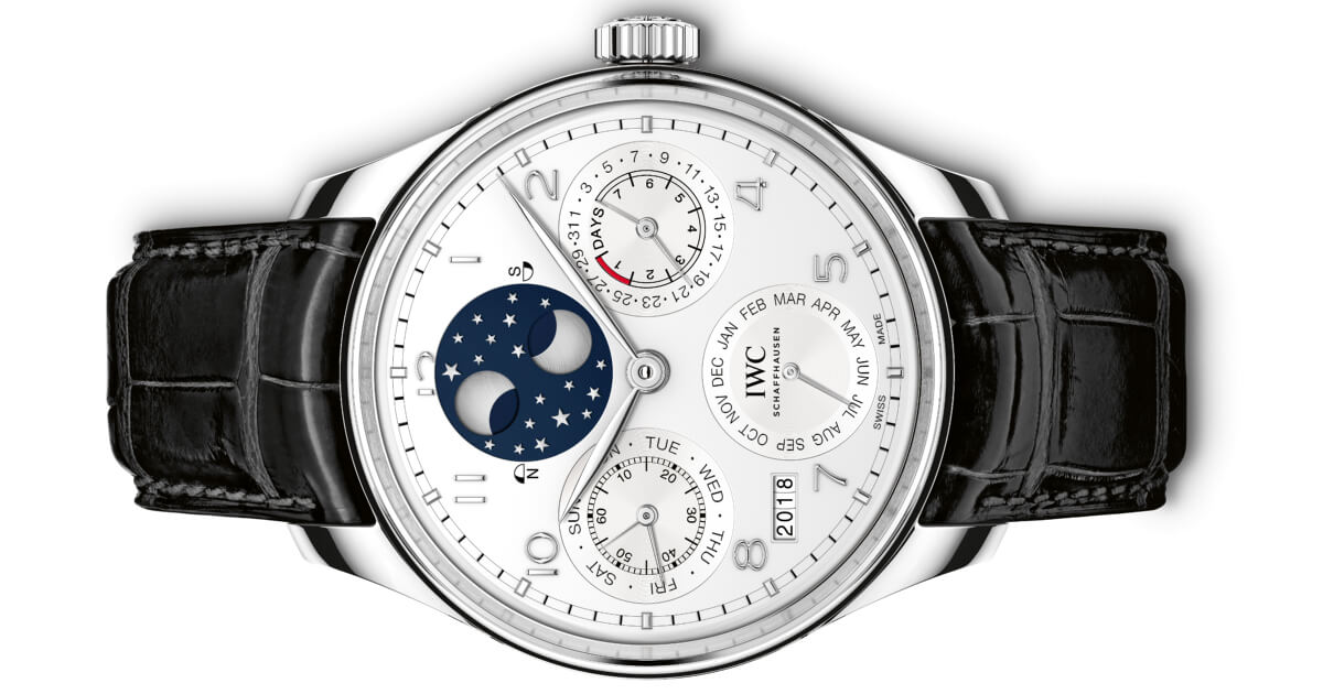The IWC Portugieser Perpetual Calendar In Platinum And The The IWC Portugieser Automatic In Stainless Steel