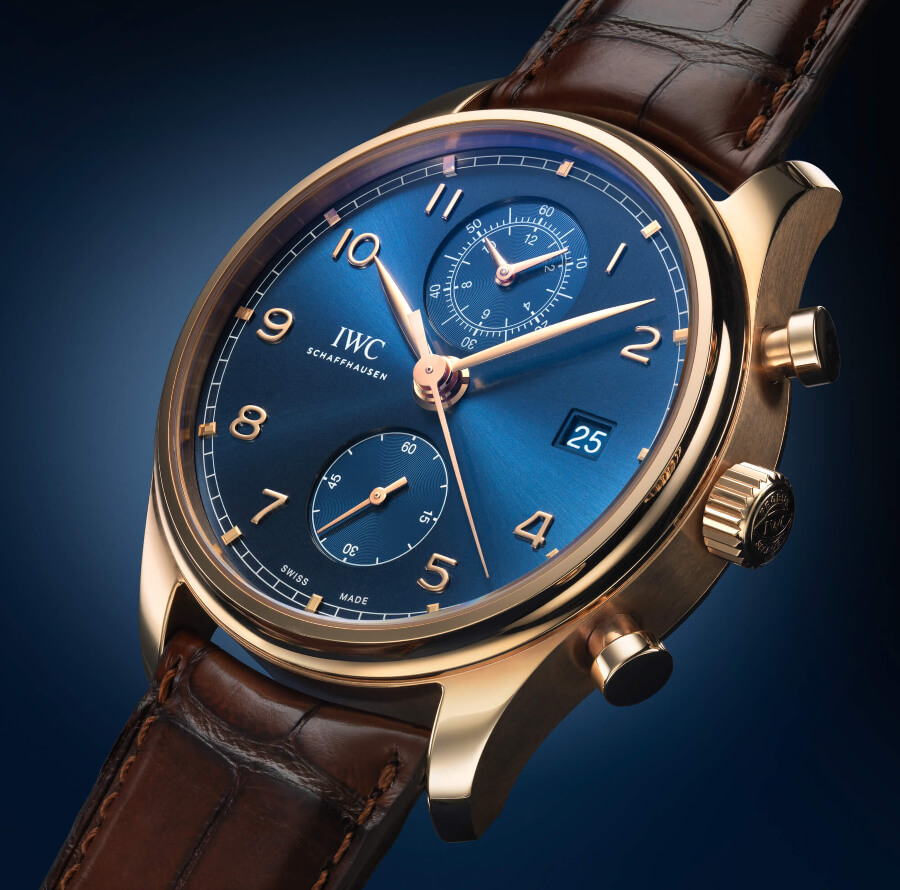 The IWC Portugieser Chronograph Classic Bucherer Blue Editions