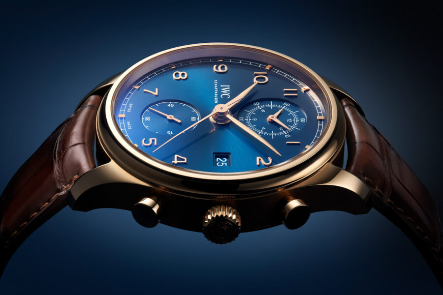 The New IWC Portugieser Chronograph Classic Bucherer Blue Editions