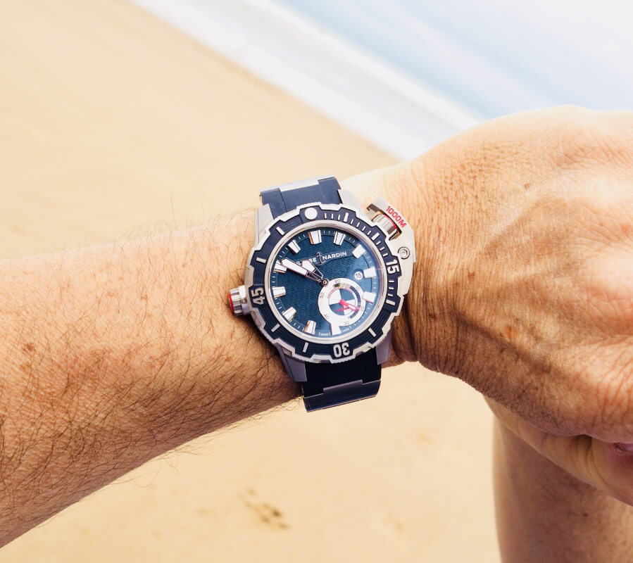 Alex Caizergues and his Ulysse Nardin's Diver Deep Dive