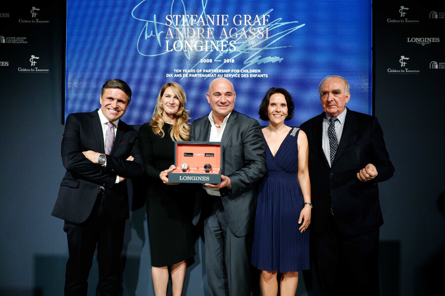 Longines Stefanie Graf and  Andre Agassi