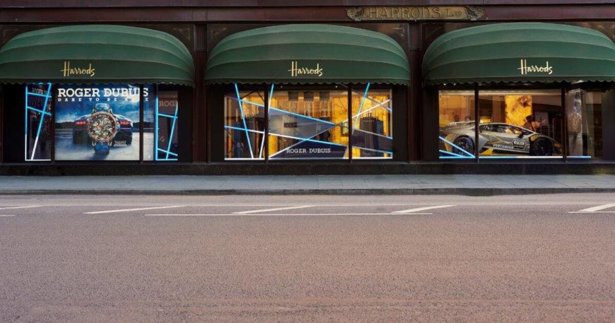 Roger Dubuis and Lamborghini Squadra Corse roar in Harrods London