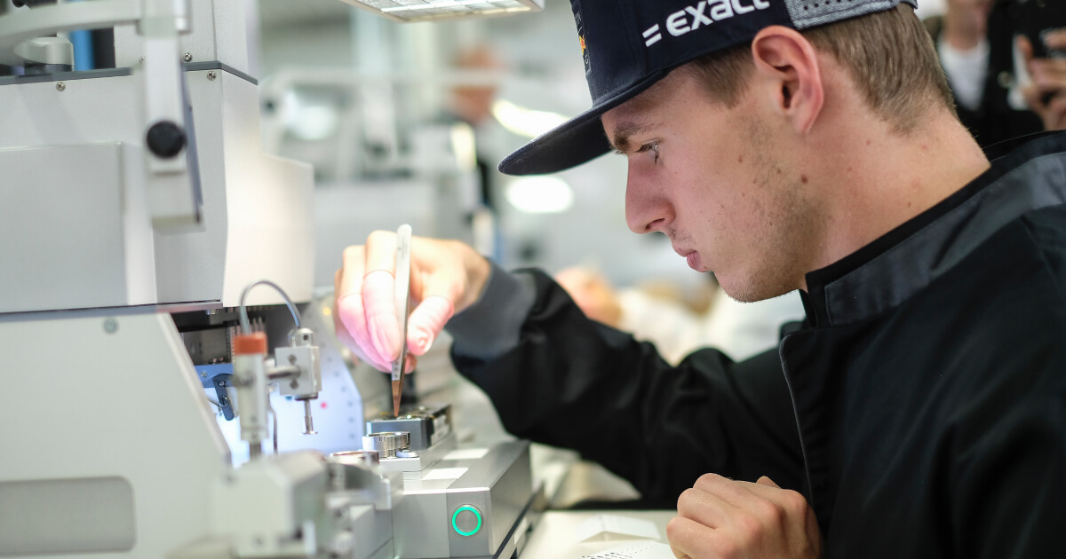 Max Verstappen Visits the TAG Heuer Manufacture