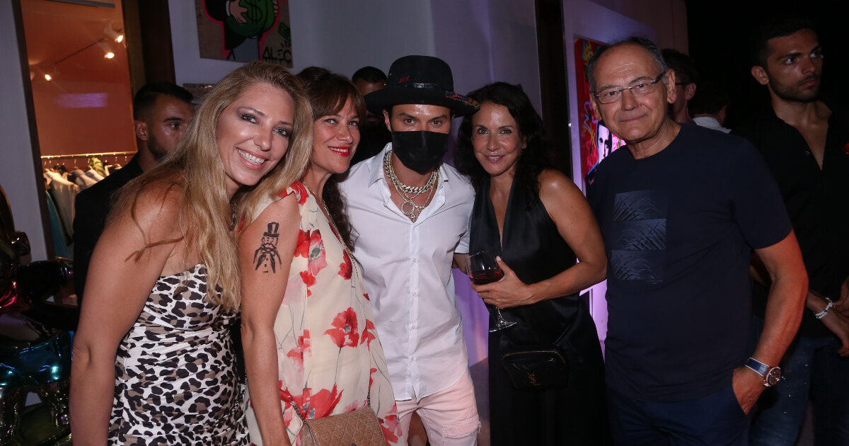 Alec Monopoly and Tag Heuer at Eden Fine Art Mykonos