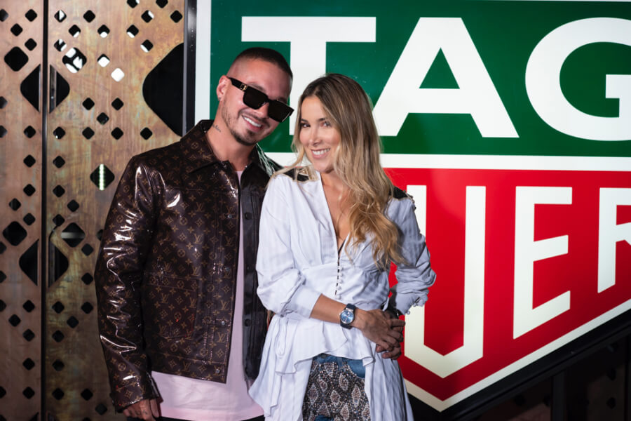 J Balvin and Valeria Lotero