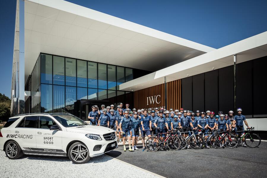 IWC employees on bike