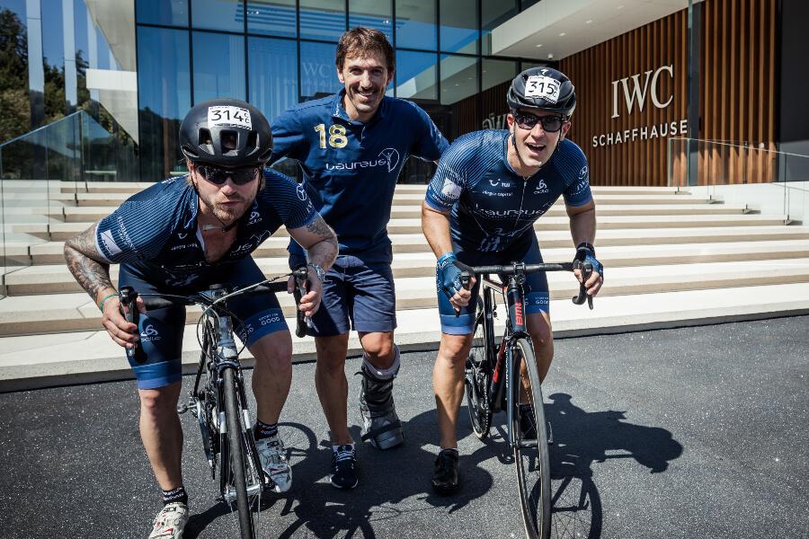 Baschi, Fabian Cancellara und Chris Grainger-Herr