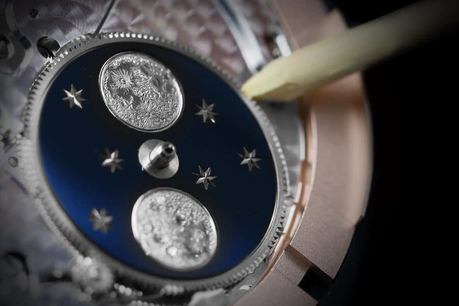 Jaquet Droz moon phase Gold