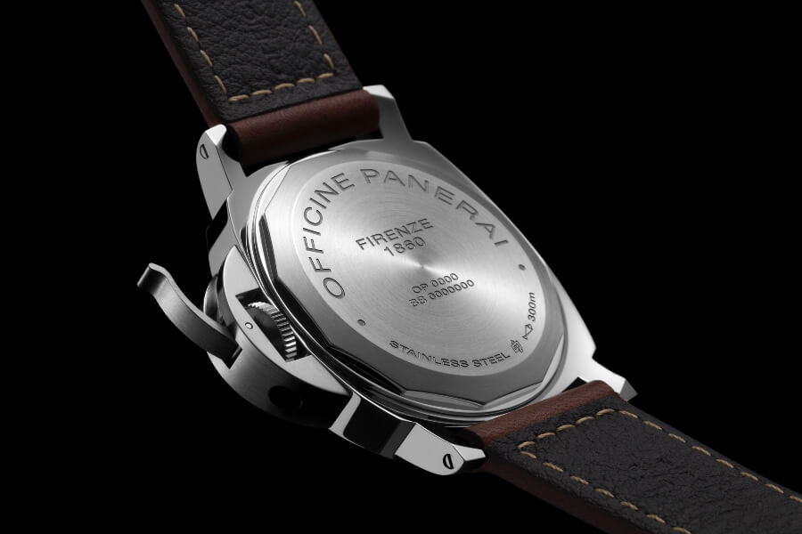 Panerai Luminor 8 Days Power Reserve Acciaio Case Back