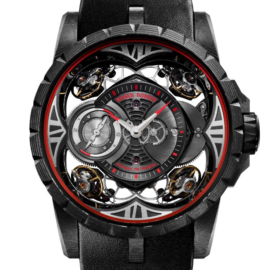 Roger Dubuis Excalibur Quatuor Carbon Watch Review