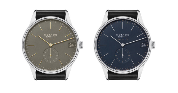 Nomos Orion Neomatik 41 Date Midnight Blue And Orion Neomatik 41 Date Olive Gold
