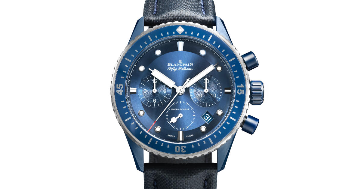 Blancpain Fifty Fathoms Bathyscaphe Bucherer Blue Editions