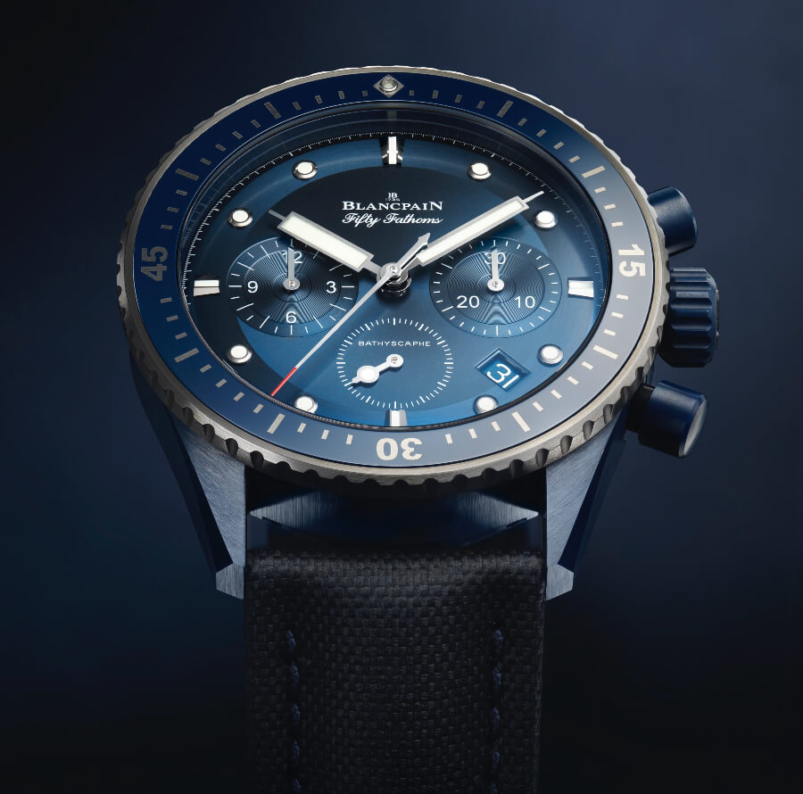 Blancpain Fifty Fathoms Bathyscaphe Blue Dial