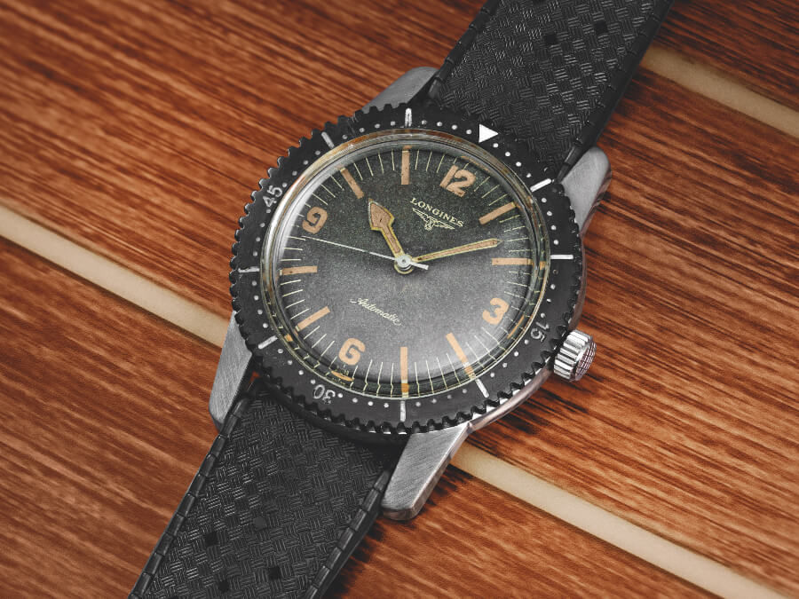 The Longines first diver watch